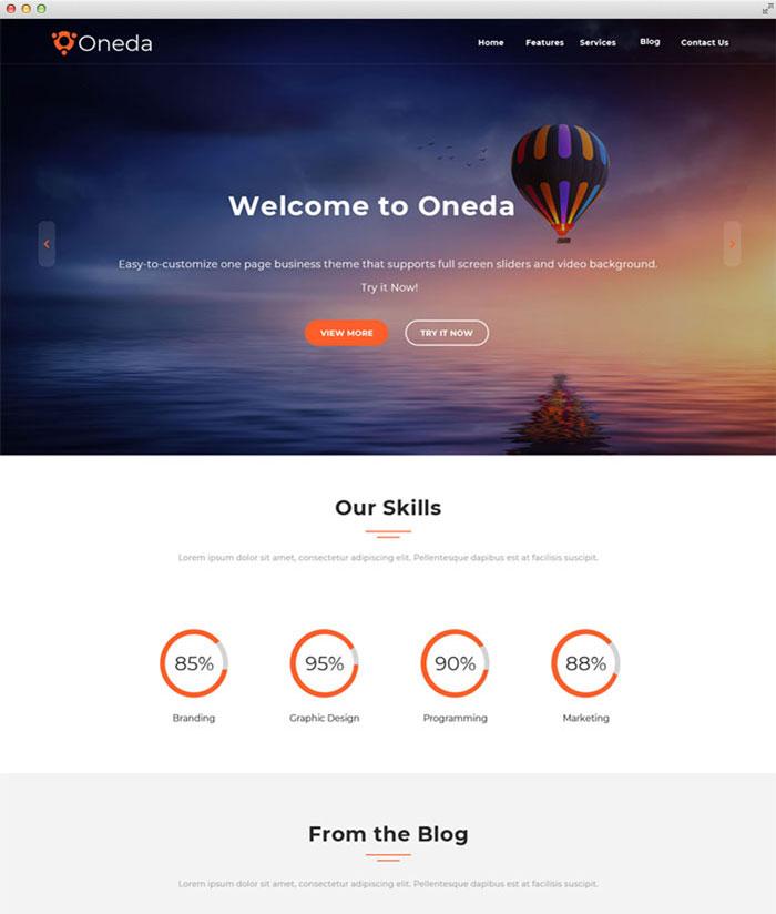 Oneda Free Theme | CooThemes com